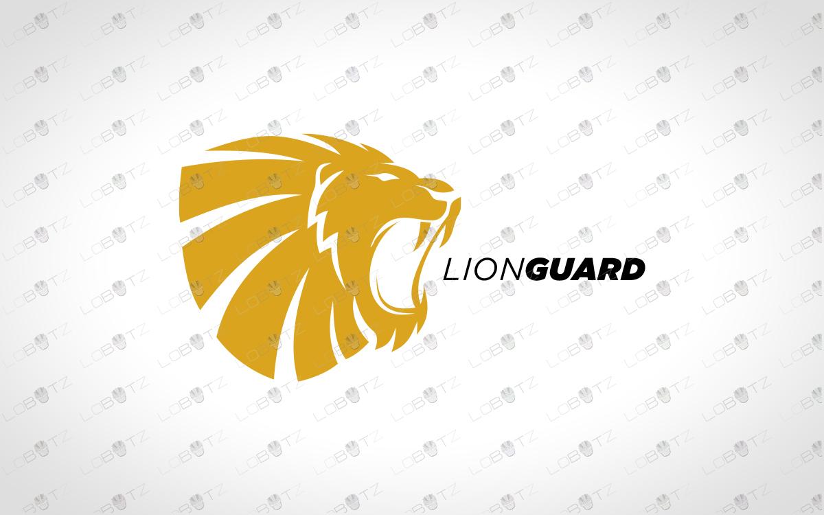 lion crest logo premade lion logo