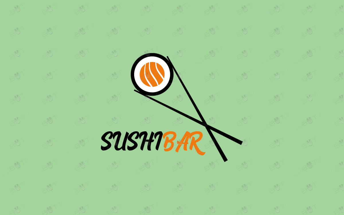 sushi logo for sale food logo for business