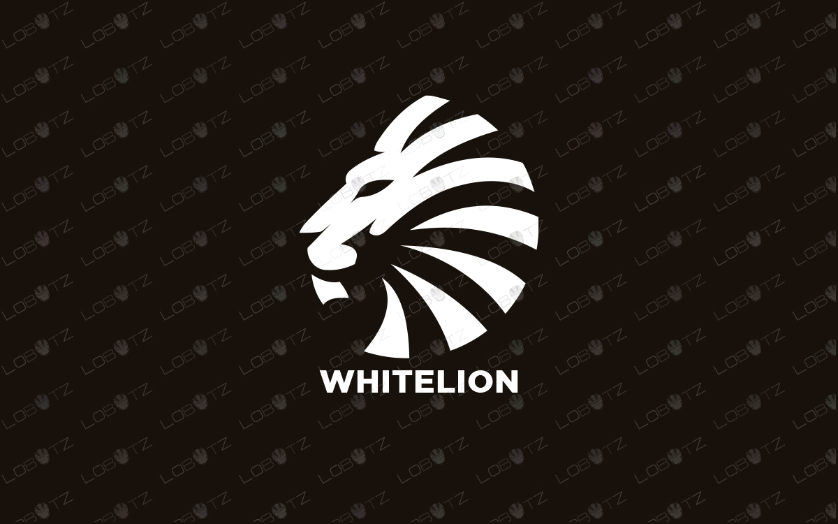 white lion logo for sale premade logos premium logo
