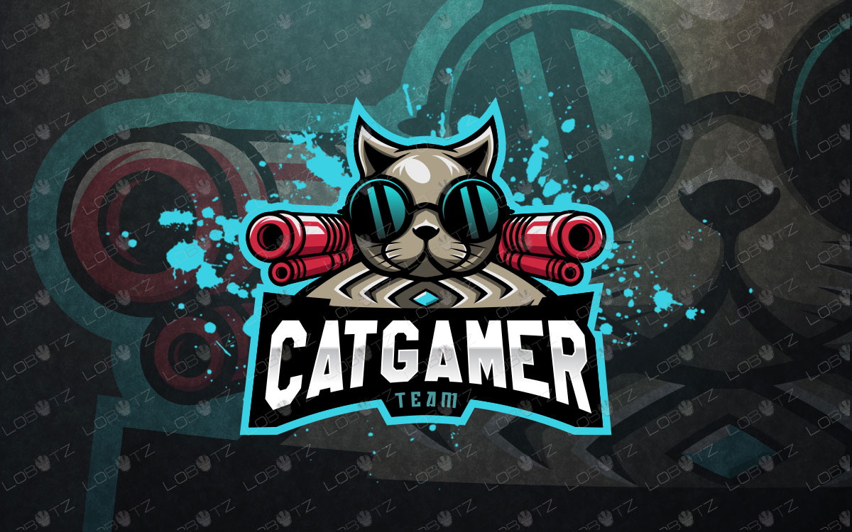 cat mascot logo cat esports logo cat team logo