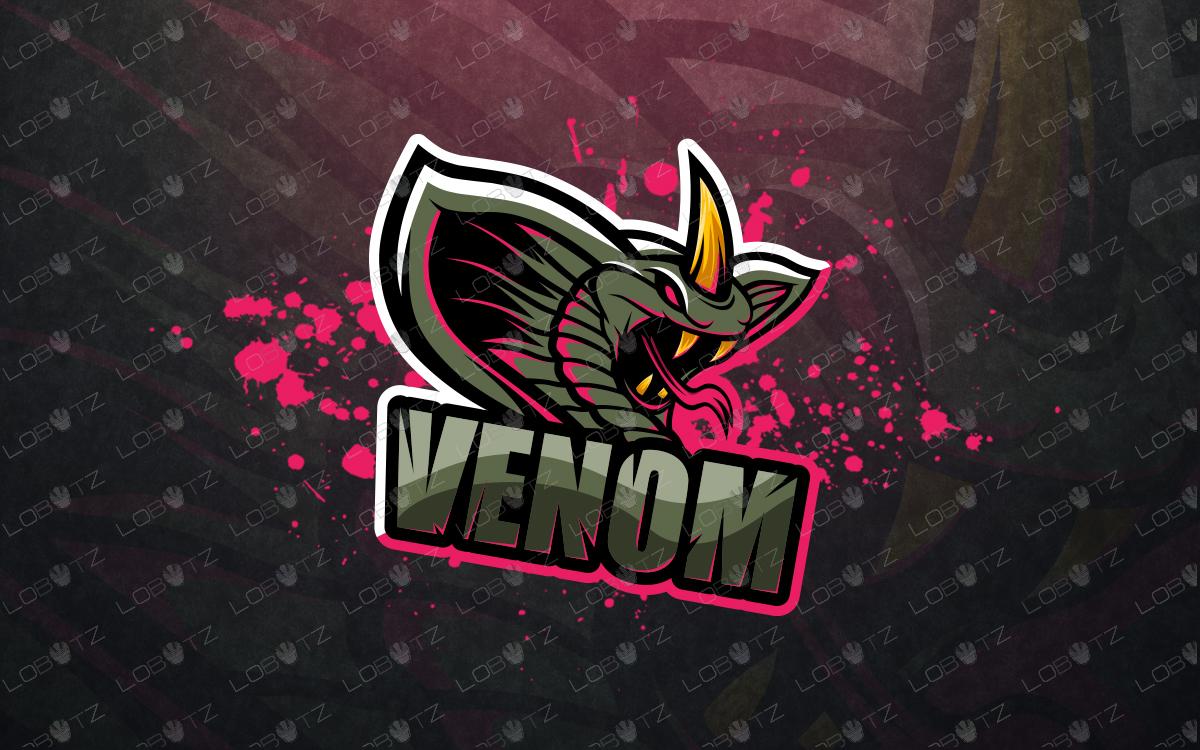 premade snake mascot logo snake esports logo
