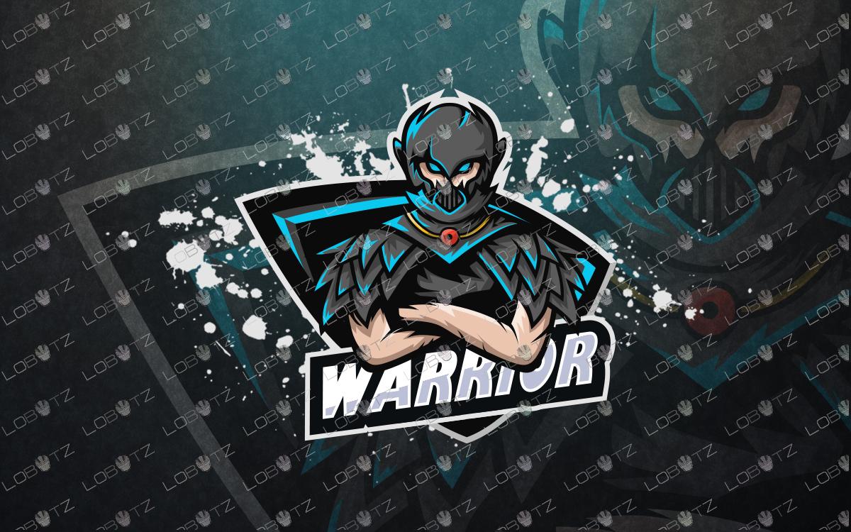 warrior gaming esports logo premade mascot logo