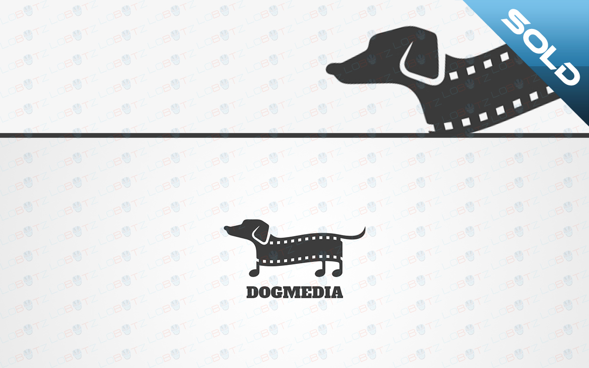 media dog logo for sale