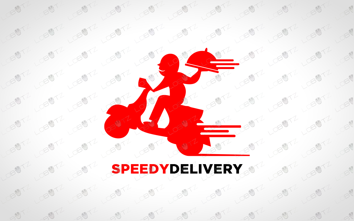 bike delivery logo for sale food delivery logo