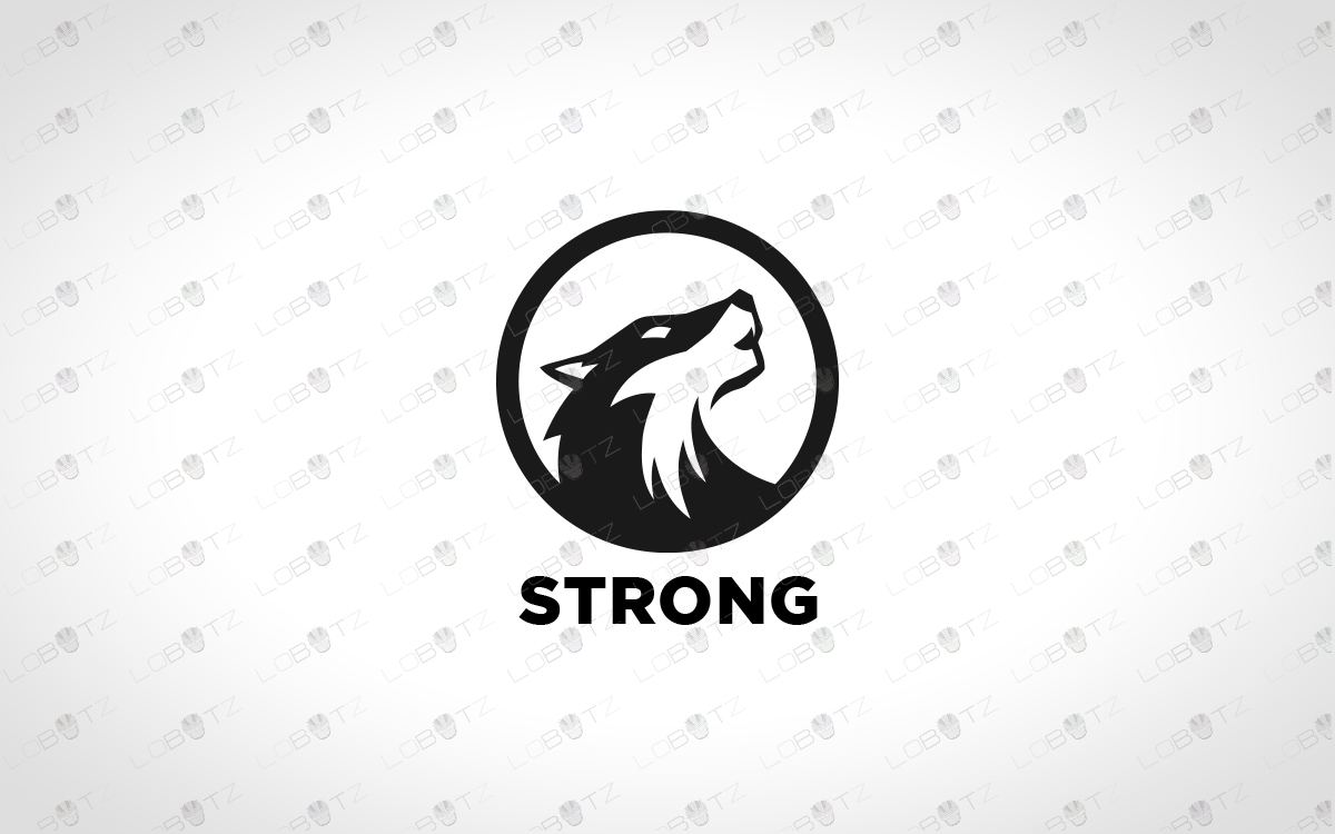 wolflogo for sale premade logo