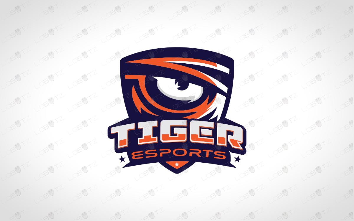 Tiger Mascot Esports Tiger Logo Tiger Eye For Sale