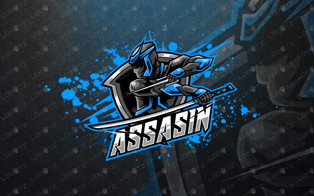 assassin esports logo assassin mascot logo premade logo