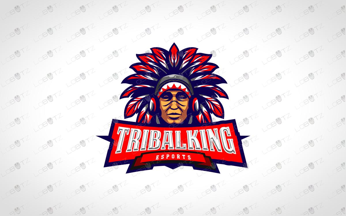 tribal chief gamer mascot logo gamer esports logo