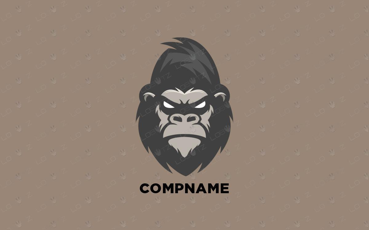 Gorilla Logo Premium Company Logo For Sale