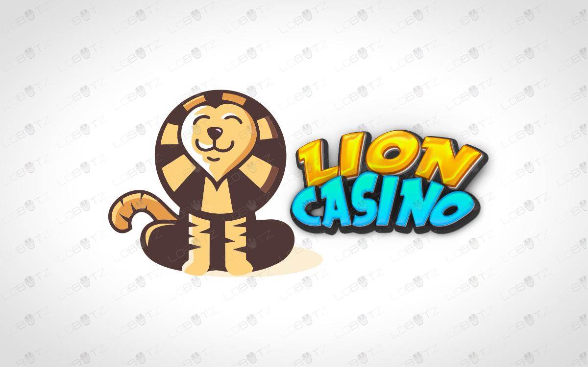 casino lion logo for sale premade logo
