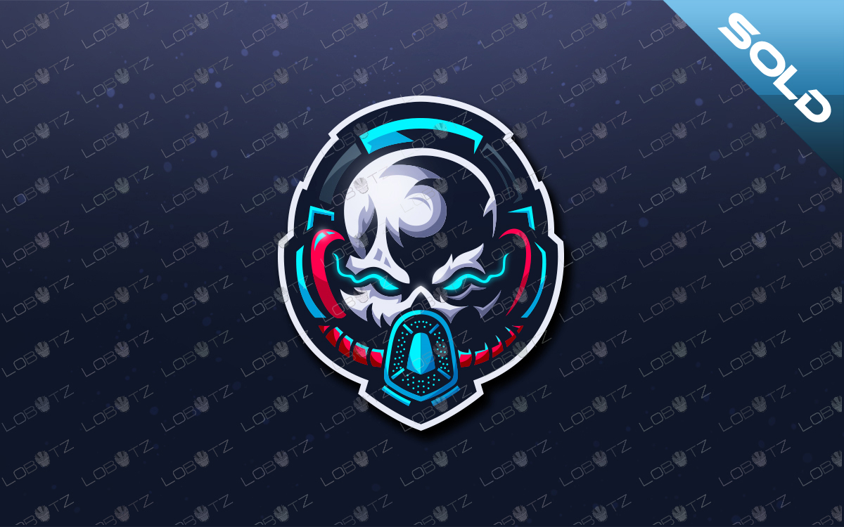 Skull Gas Mask Mascot Logo For Sale Gas Masked Skull eSports Logo