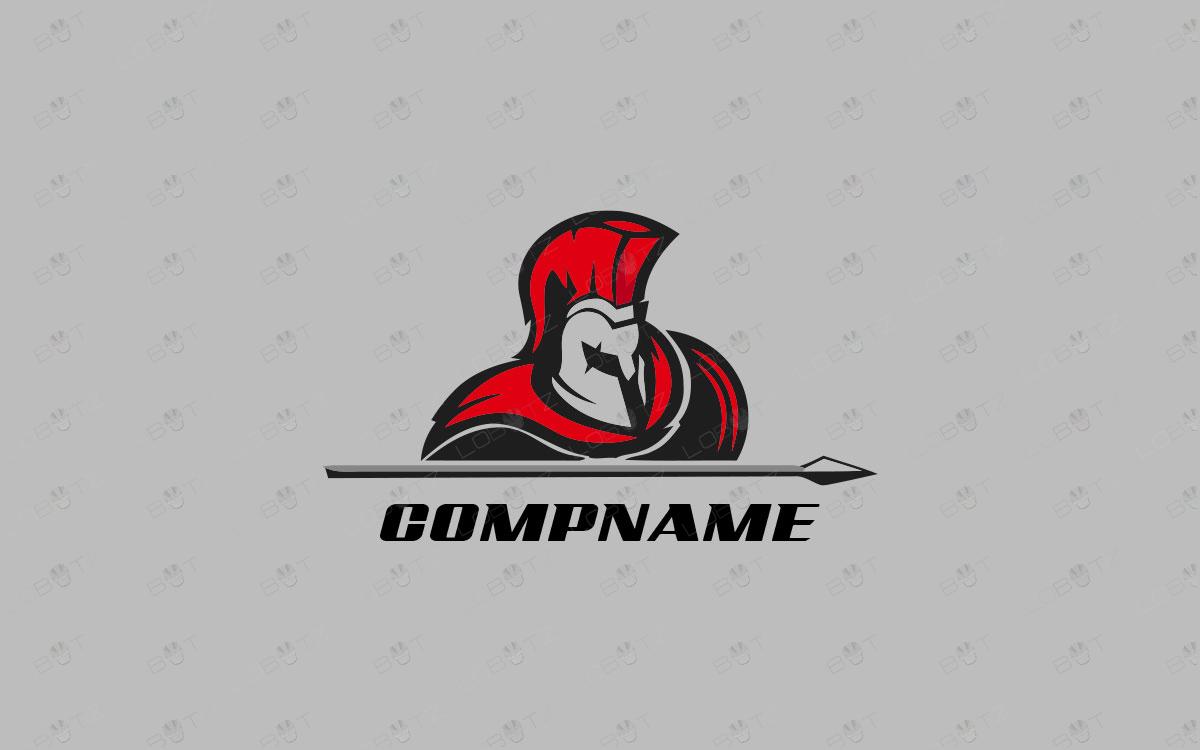 Modern Spartan Logo For Sale Premade Company Logo