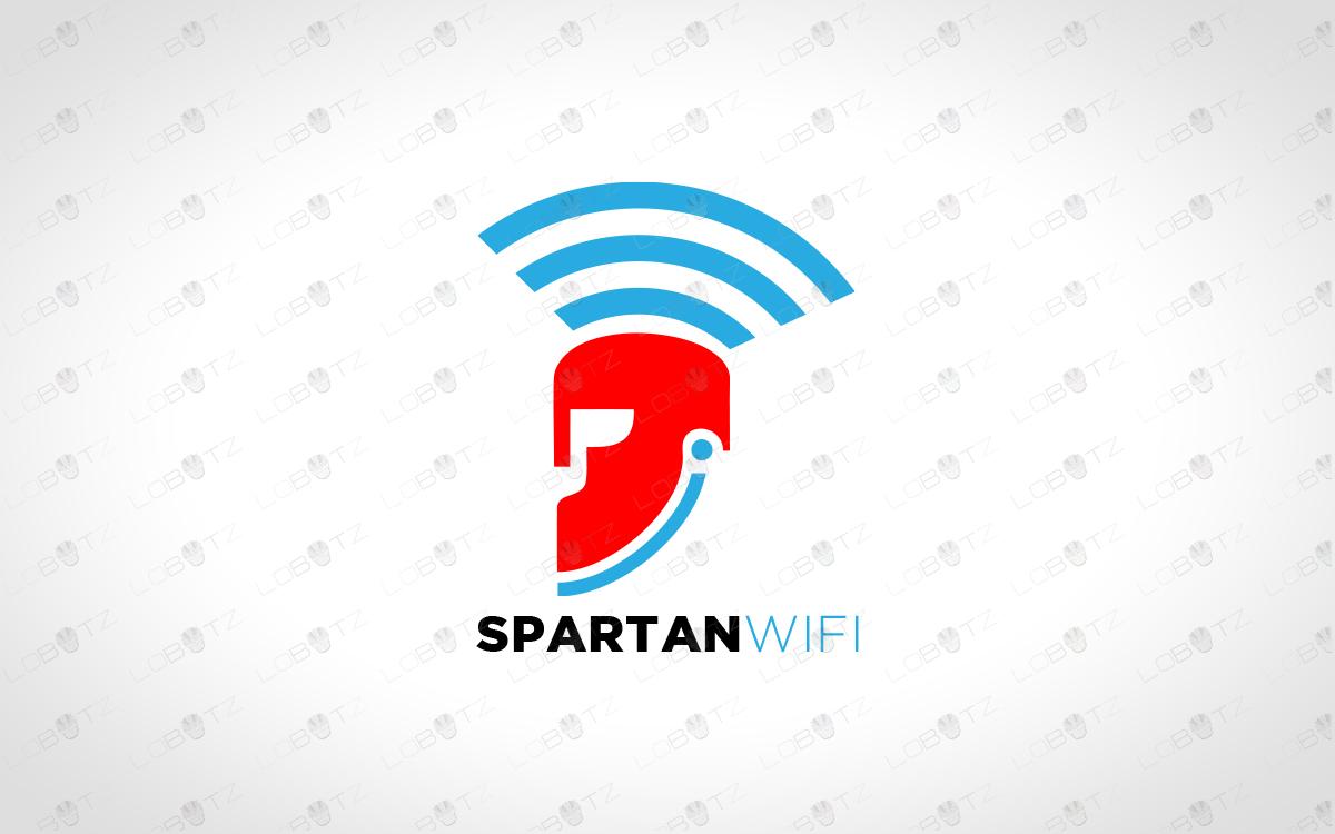 premade spartan logo for sale spartan wifi logo