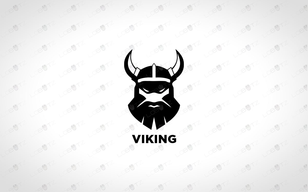 Viking Logo For Sale king logo premade logo