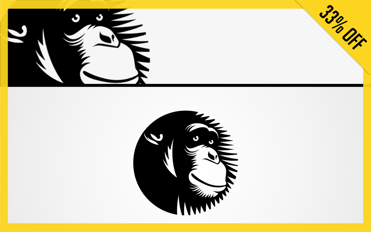 chimpanzee logo for sale