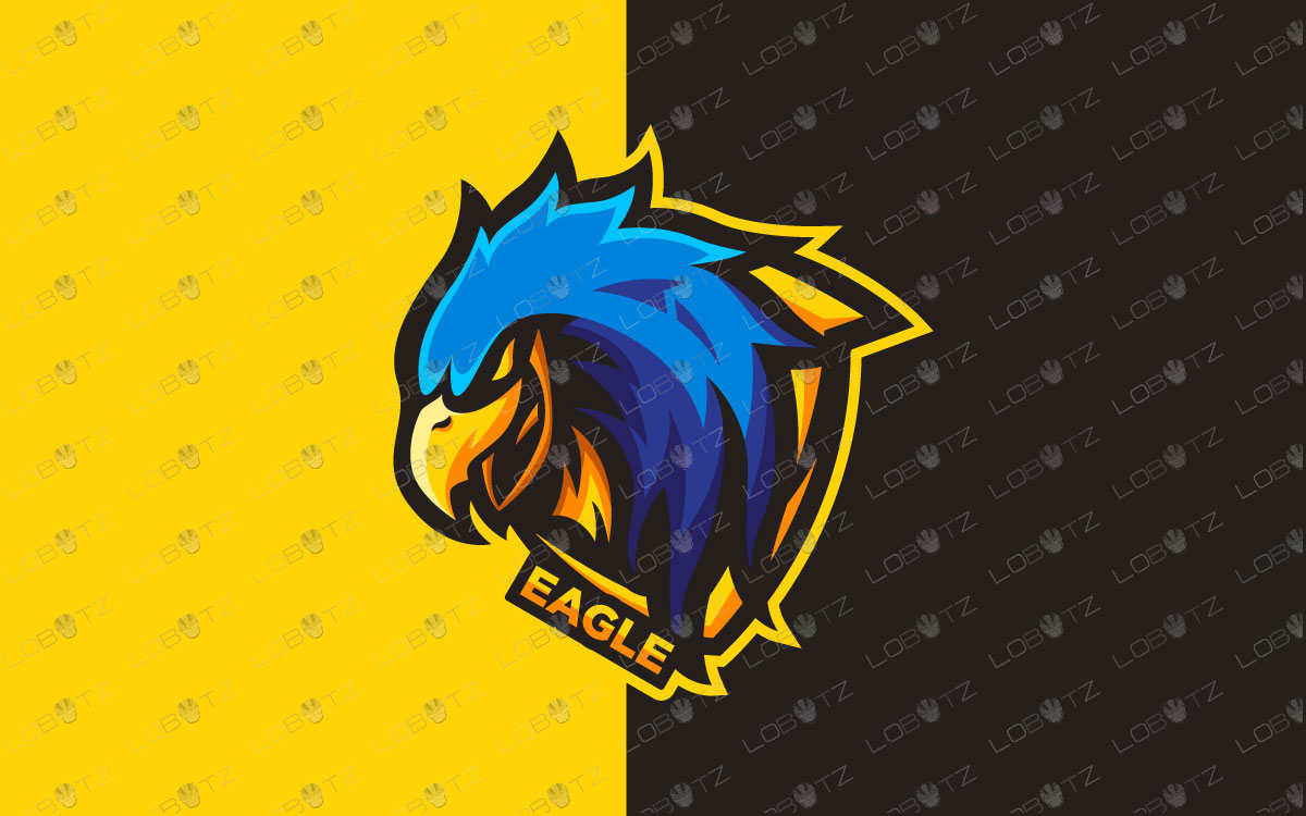 Gaming Eagle Mascot Logo Free Template Ppt Premium Download 2020