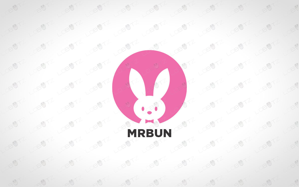 bunny logo for sale rabbit logo for sale