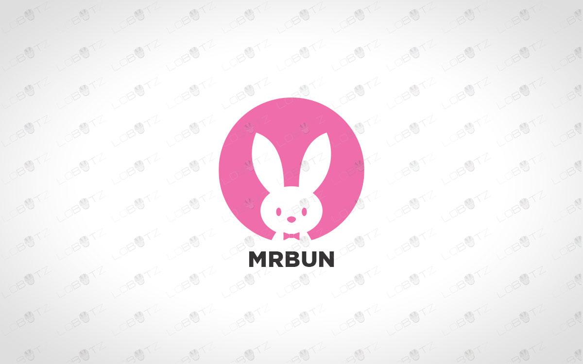 bunny logo for sale rabbit logo for sale