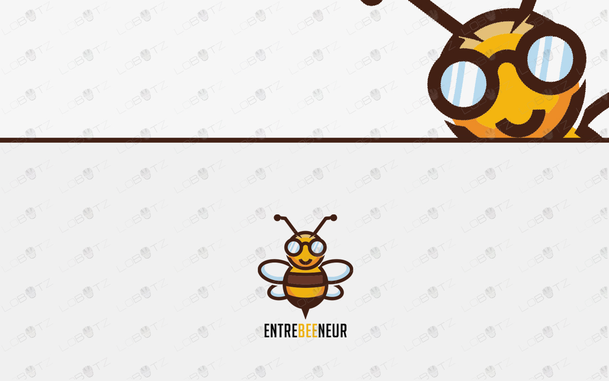 Bee Logo For Sale premade bee logo