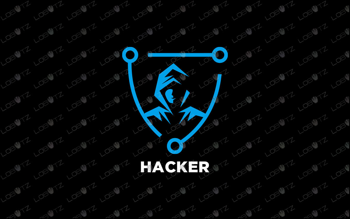 Hacker Logo For Sale Premade Hacker Logo