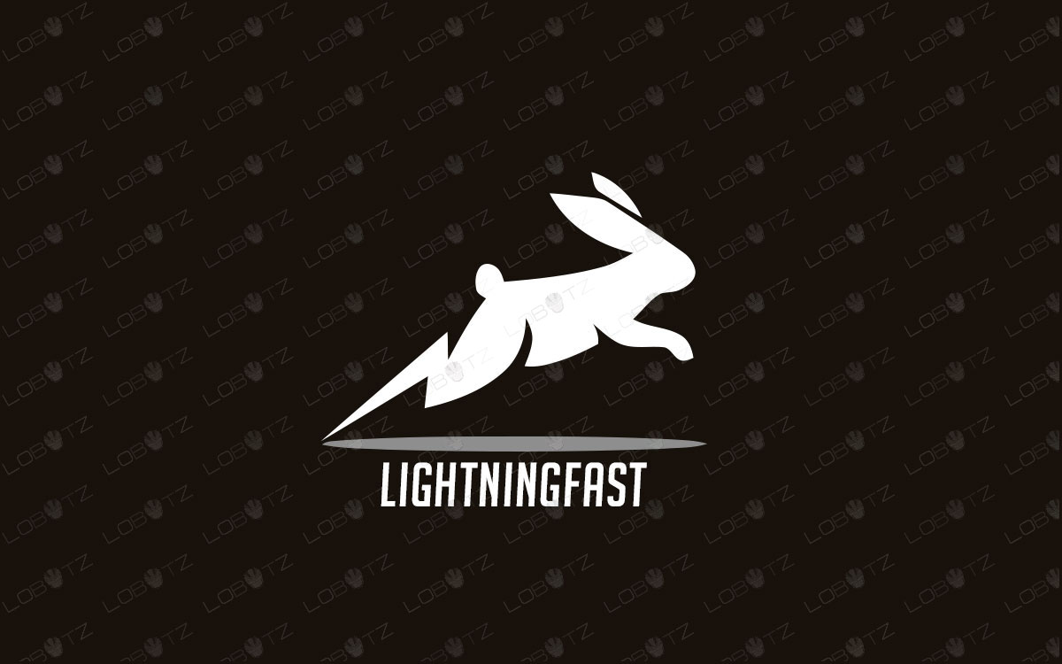 Fast Rabbit Logo For Sale Premade Speedy Rabbit Logo