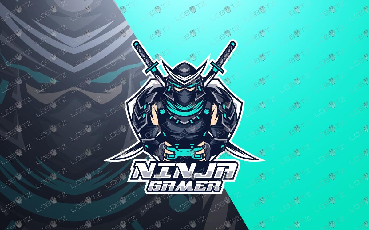ninja mascot logo gamer ninja esports logo