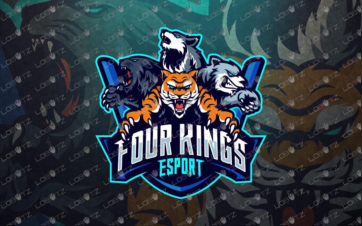 premade team esports logo team mascot logo tiger mascot logo wolf mascot logo