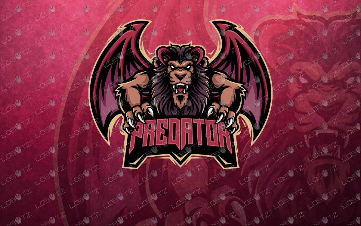 winged lion mascot logo winged lion esports logo