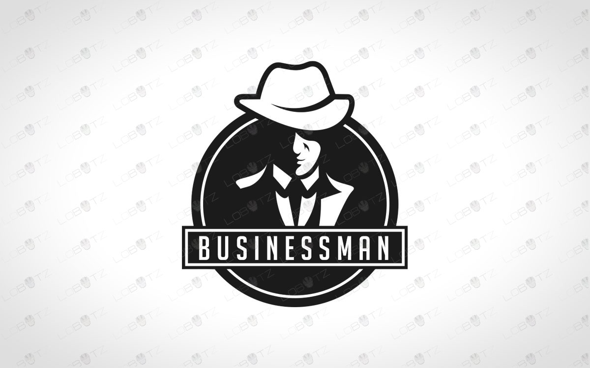 business man logo for sale premade business logo