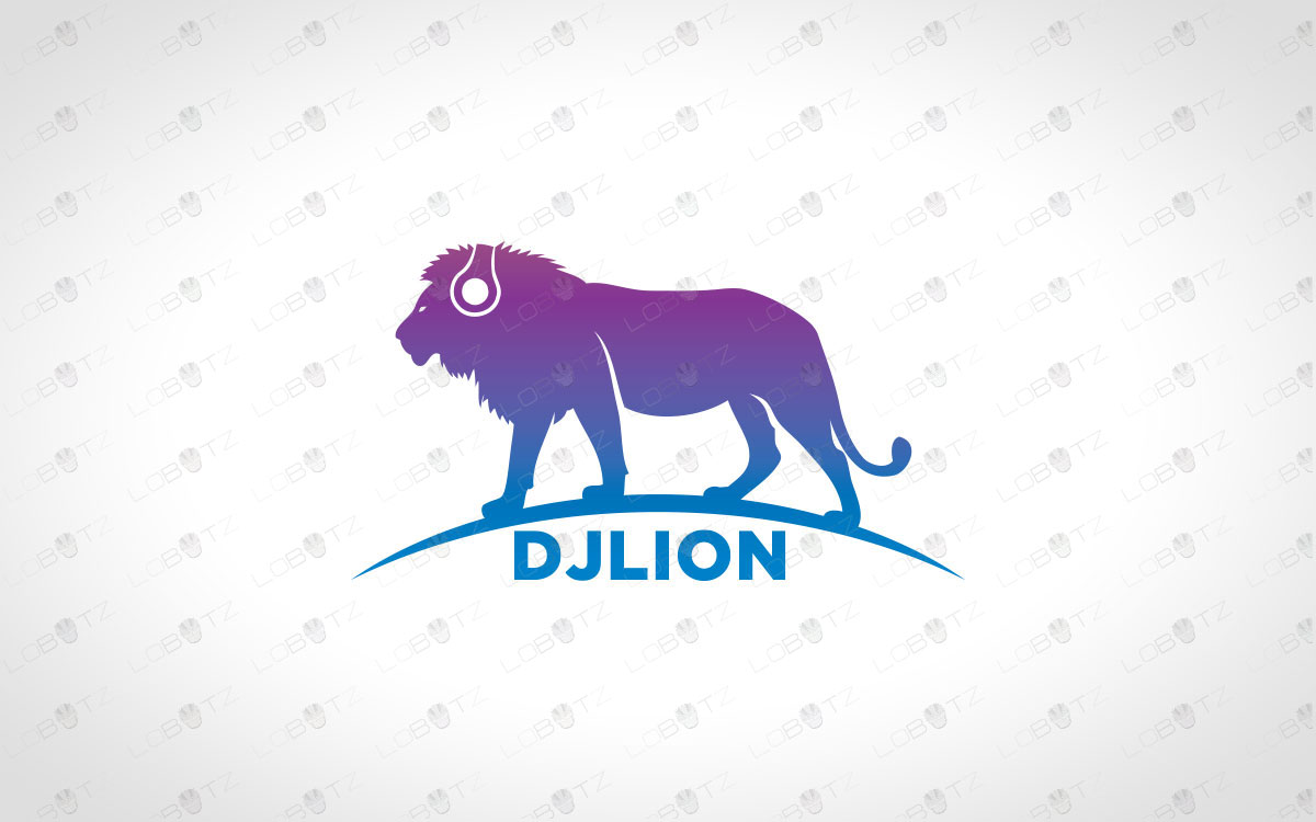 music logo music lion logo for sale dj logo