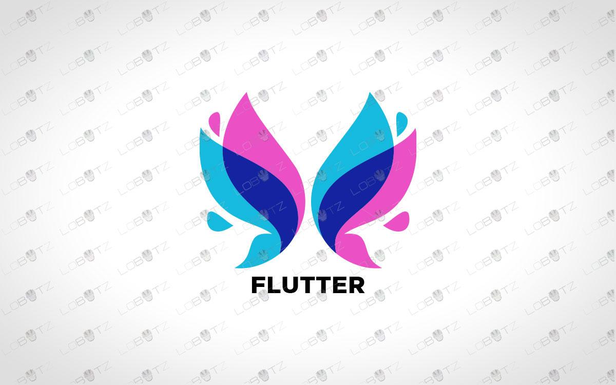 Modern Butterfly Logo For Sale   Premade Butterfly Logo