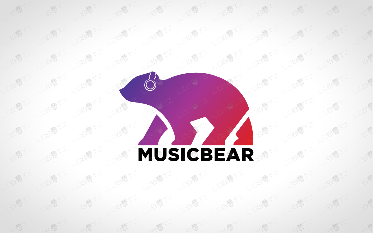 music logo music bear logo for sale dj logo