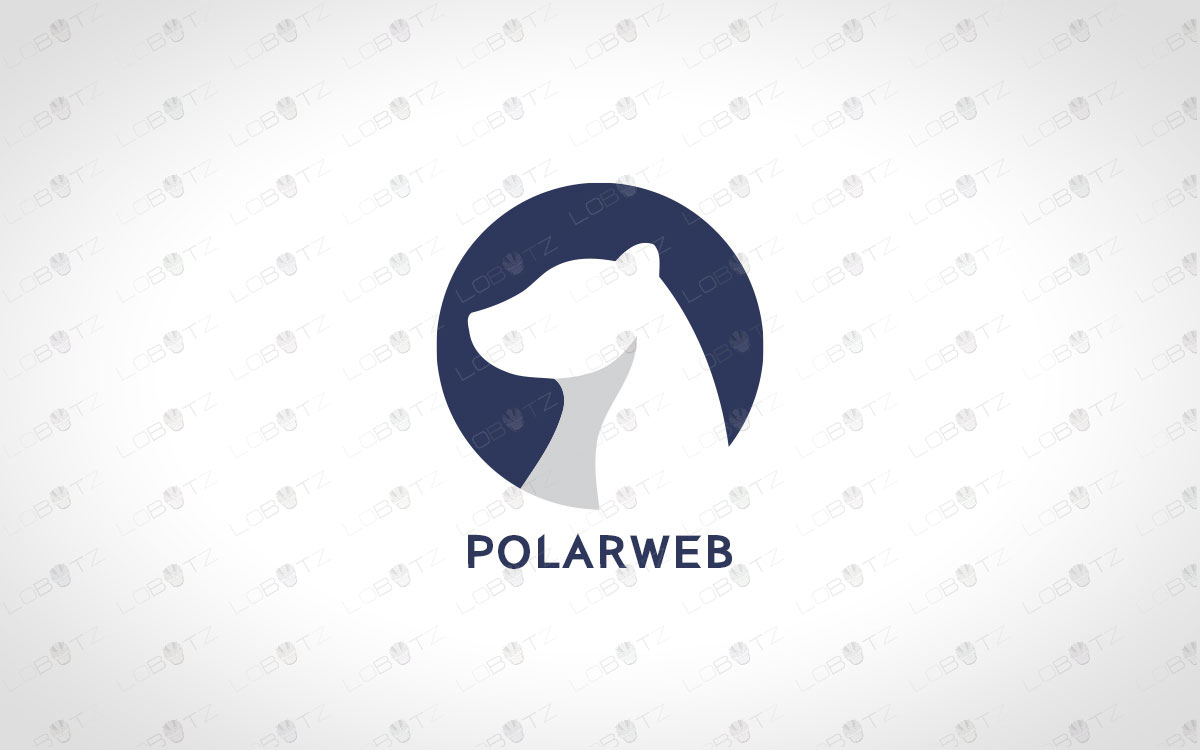 polar bear logo for sale premade polar bear logo