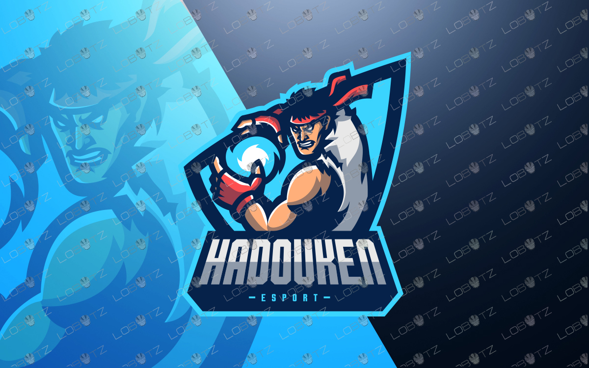 Street Fighter Mascot Logo | Fighter eSports Logo