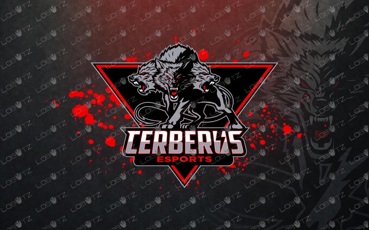 premade cerberus mascot logo cerberus esports logo for sale