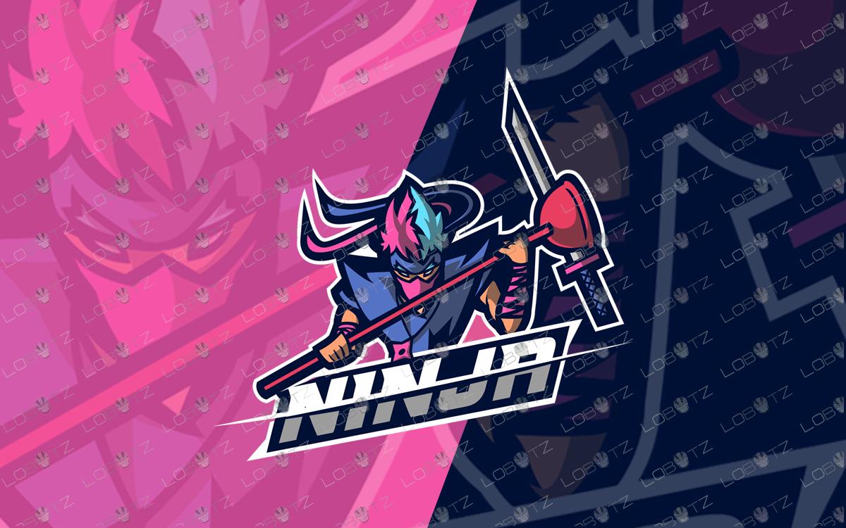 Spectacular Ninja Mascot Logo | Ninja eSports Logo For Sale premade logos
