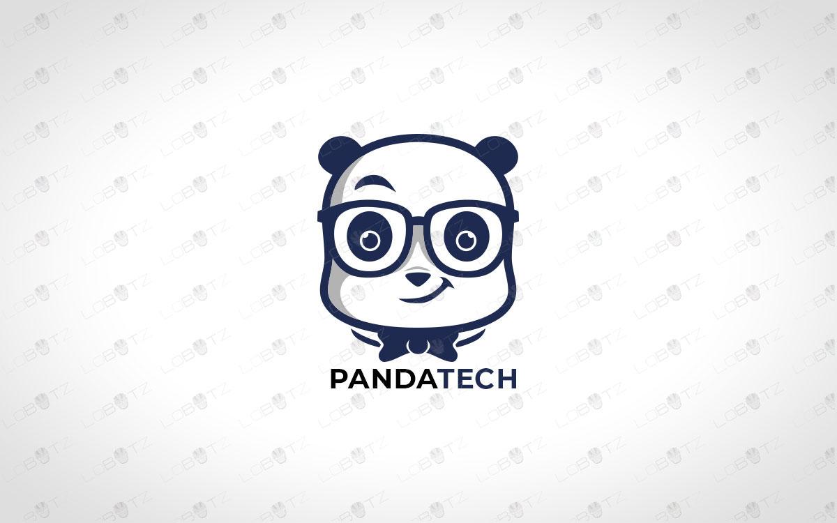 Tech Panda Logo For Sale Premade Panda Logo