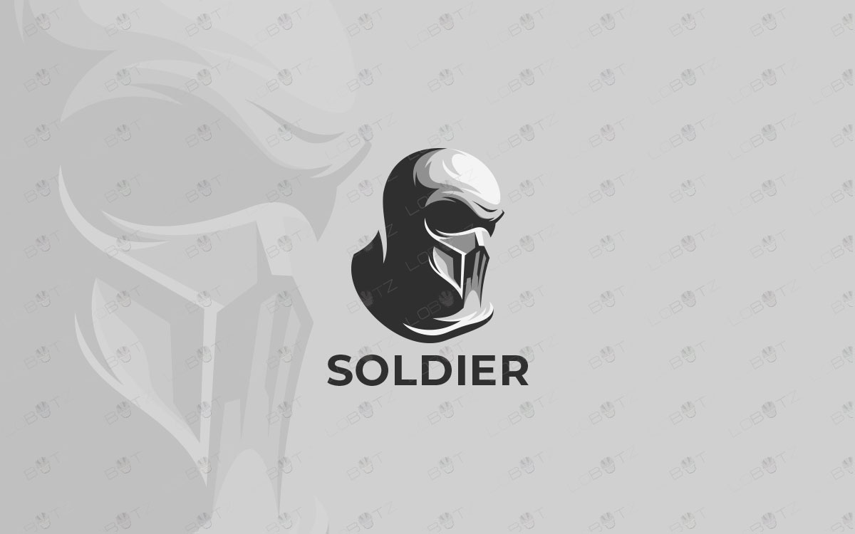 solder logo for sale premade soldier logo