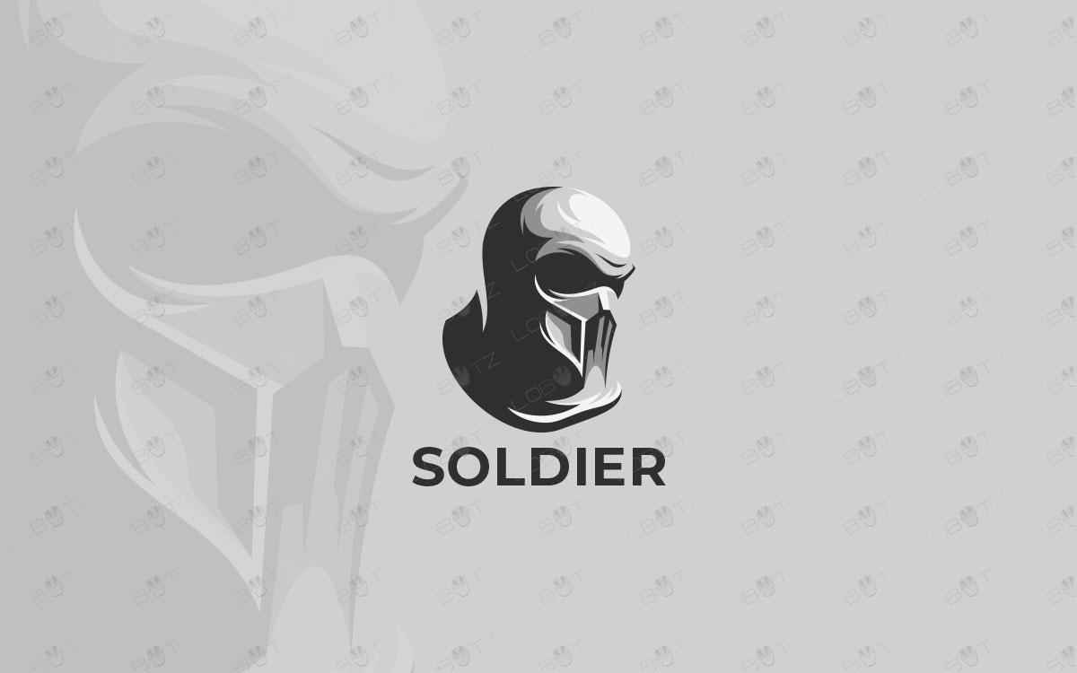 solder logo for sale premade soldier logo