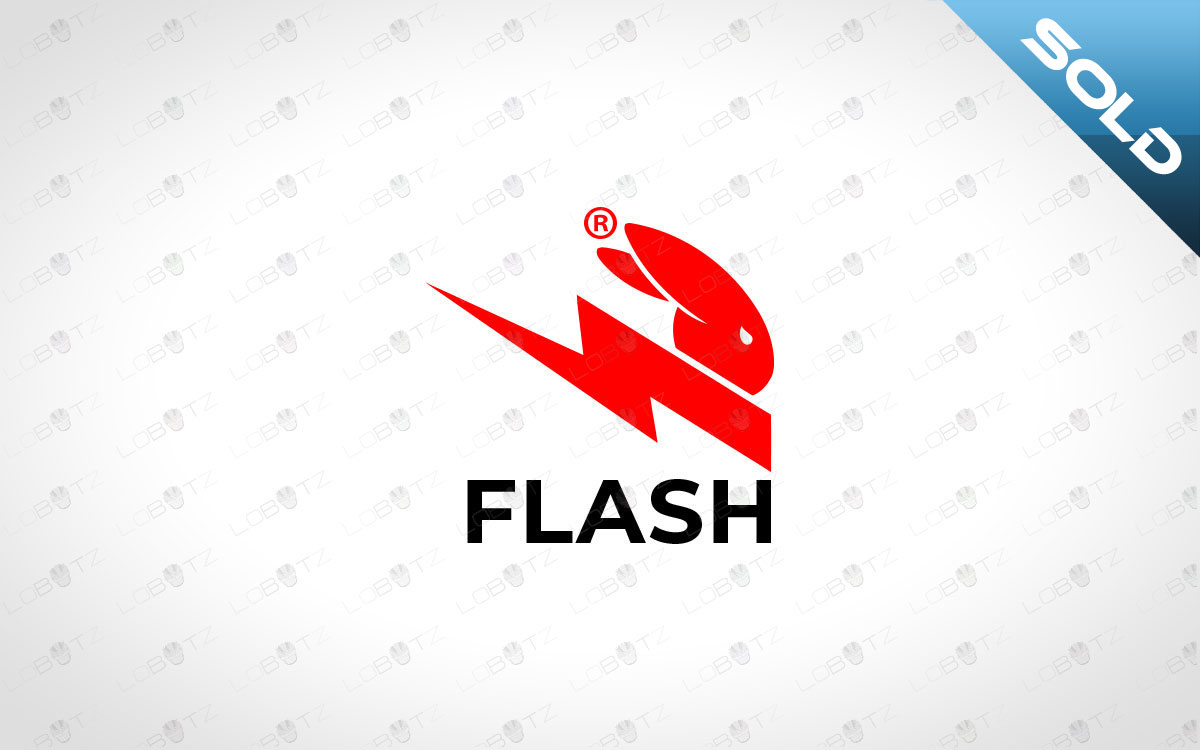 Fast Rabbit Logo For Sale Premade Speedy Rabbit Logo