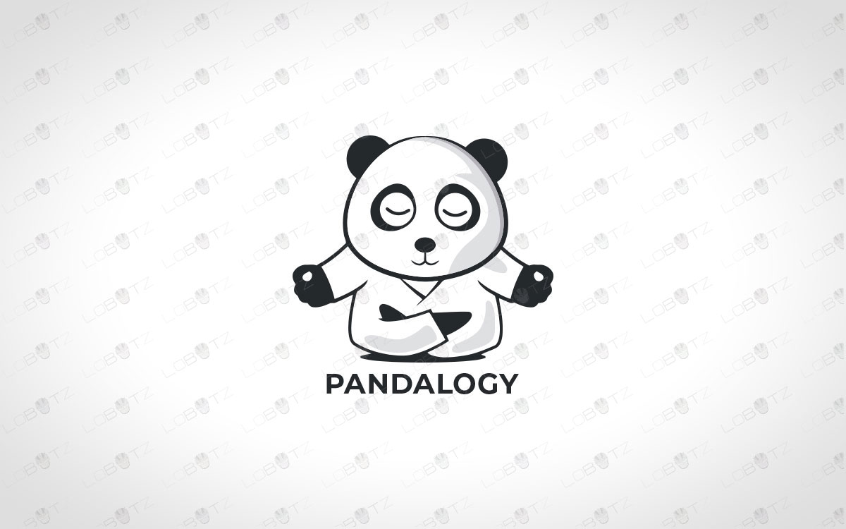 calm panda logo for sale panda yoga logo