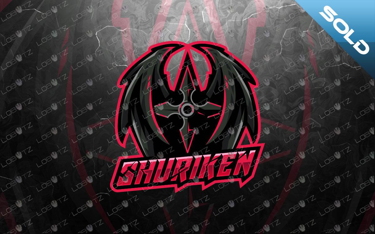 shuriken mascot logo shuriken esports logo premade
