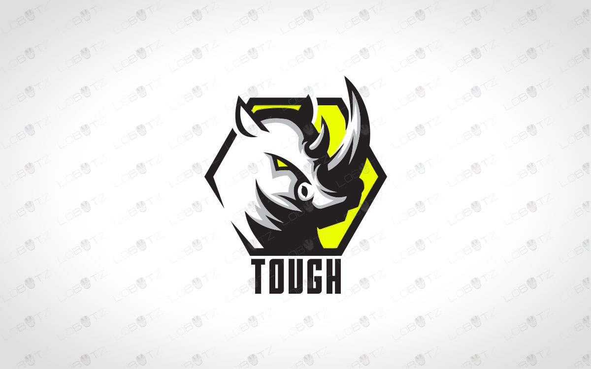 Rhino Logo Modern & Trendy Rhino Logo For Sale