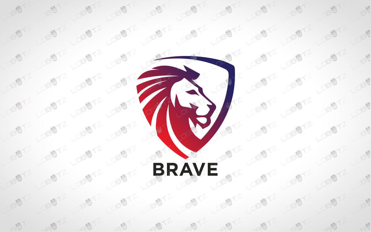 Premade Lion Logo | Royal Lion Crest Logo For Sale