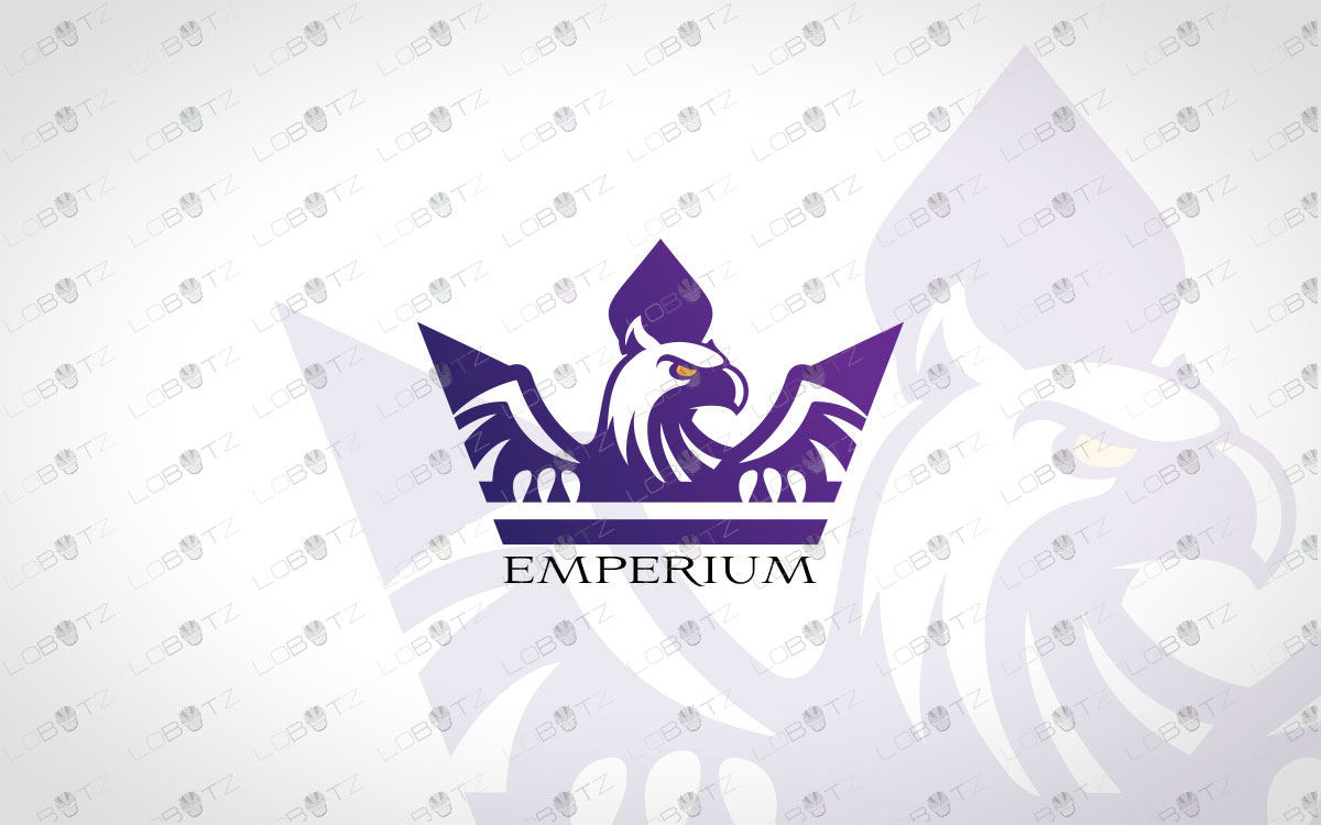 Eagle Crown Logo For Sale Premade Crown Eagle Logo