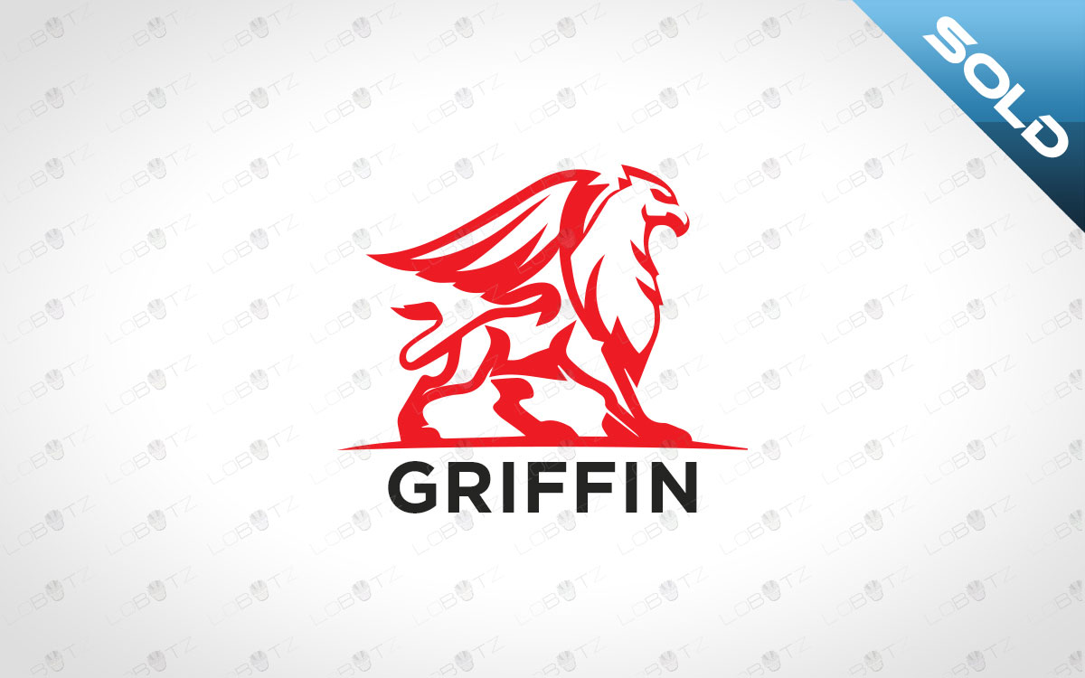 minimalist griffin logo for sale premade business logo