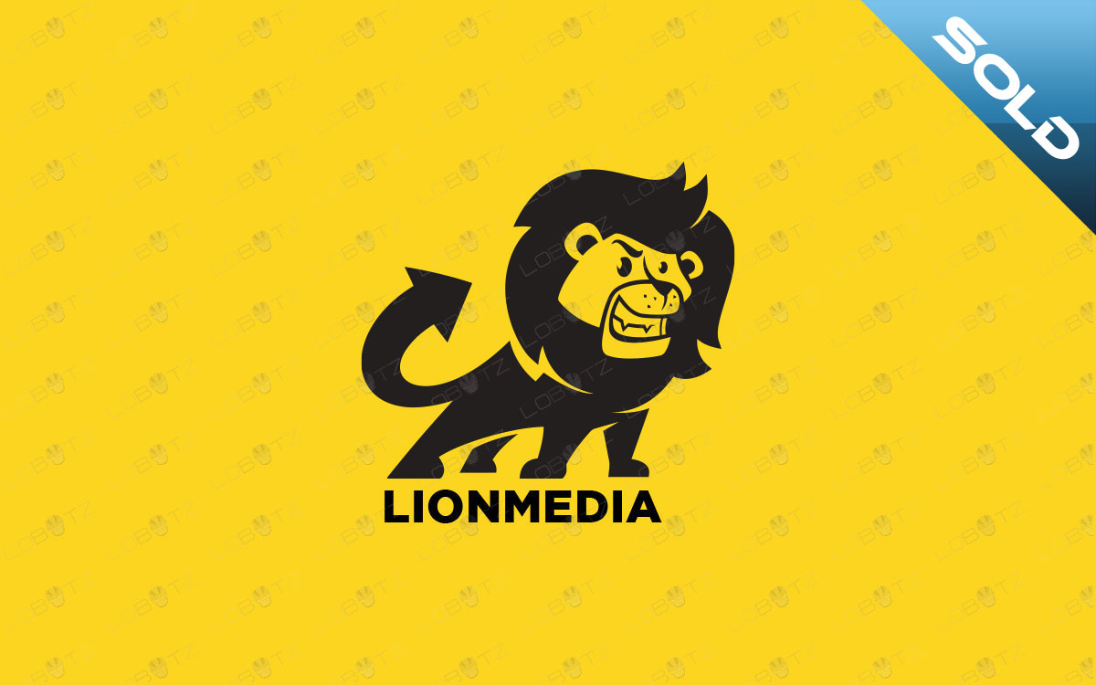 cartoon lion logo for sale premade logocartoon lion logo for sale premade logo