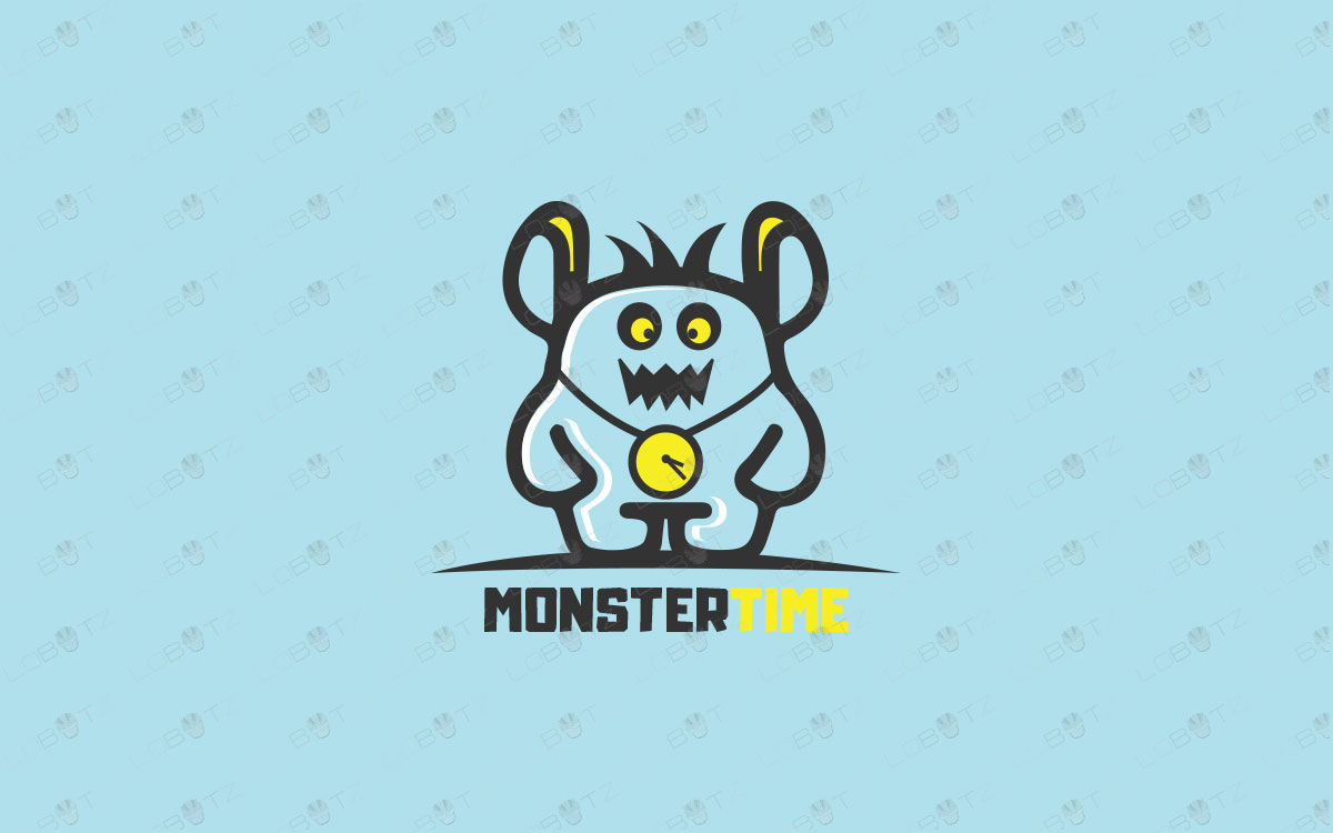 monster logo for sale premade monster logo cute monster logo