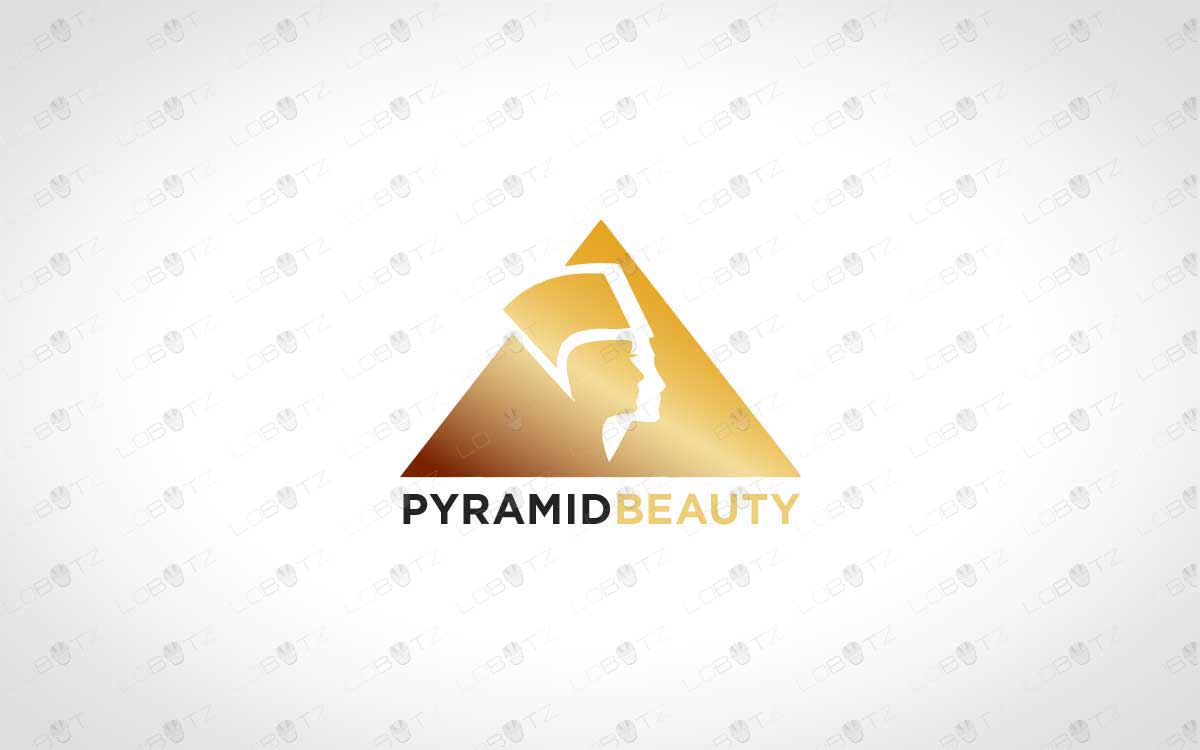 Pyramid Logo For Sale Pyramid Beauty Logo Premade Logo