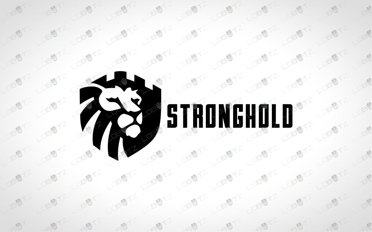 Premade Minimalist Lion Logo Royal Lion Logo For Sale Lion Castle Logo